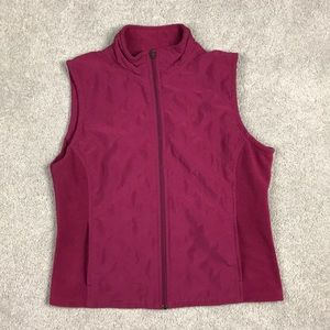 Vintage Columbia Small Dark Magenta Vest Fleece